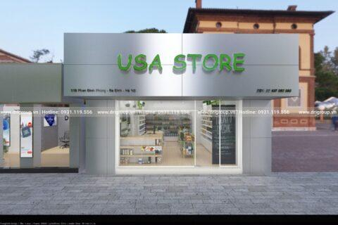 Project of designing and constructing American hand store