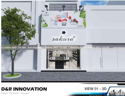 Project on designing and constructing Sakura Binh Duong Showroom